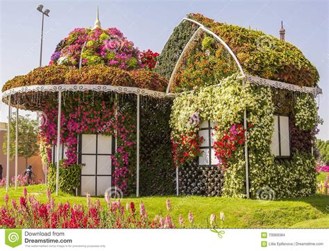amazing colorful house  flowers   miracle garden