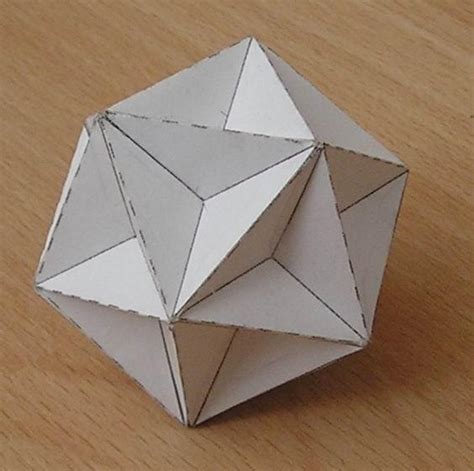 3d Shapes Paper Folding - paper great dodecahedron