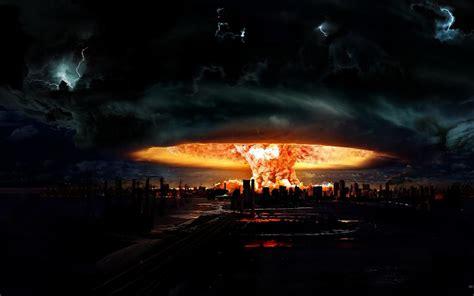 nuclear explosion  darkness mac wallpaper