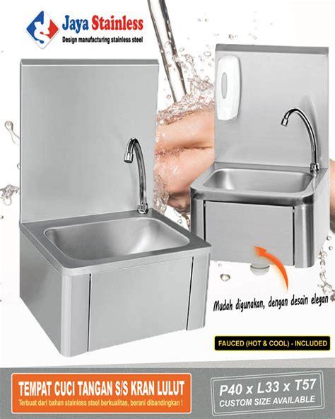 Kran Stainless bak tempat cuci tangan jaya stainless kran dengkul pt