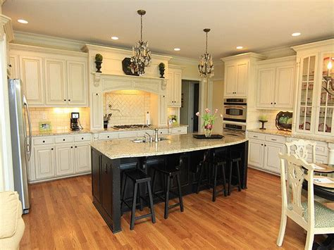 cream colored kitchens cream colored cabinets and dark island kitchen ideas