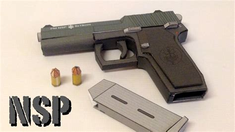 Papercraft Gun - how to make a paper 1911 papercraft gun build review