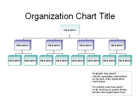 Business Organizational Chart Organization Hierarchy Chart Template