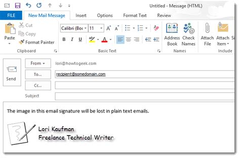 html format for new line how to modify a signature for use in plain text emails in