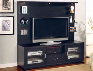 tv regale ultra modern black tv console with glass shelves design