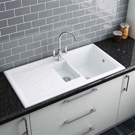 ceramic white kitchen sink reginox white ceramic 1 5 bowl kitchen sink at victorian