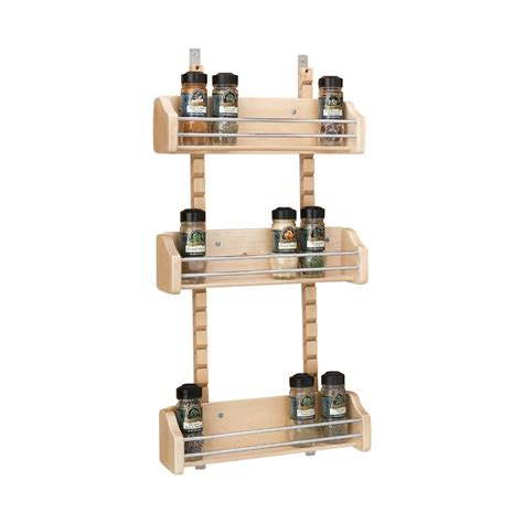 Adjustable Door Mount Spice Rack 10 1 8 adjustable door mount spice rack bin only maple wood 10 1 8w x 4d x 3 5 8h 10 pack