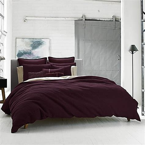 kenneth cole bedding kenneth cole reaction home waffle duvet cover bed bath
