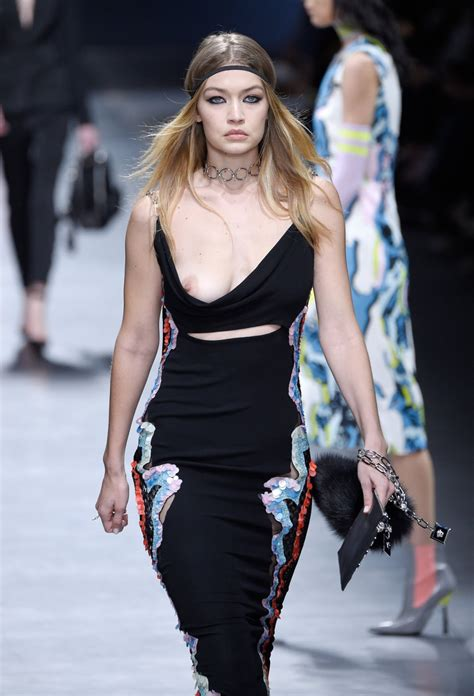 The Week In Nip Slips by Gigi Hadid Slip On The Runway In Milan 04