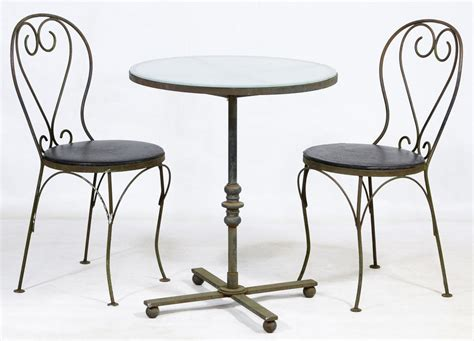 wrought iron bistro table lot 123 wrought iron bistro table and chairs leonard