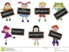 days of the week kids calendar calendar 2017 printable