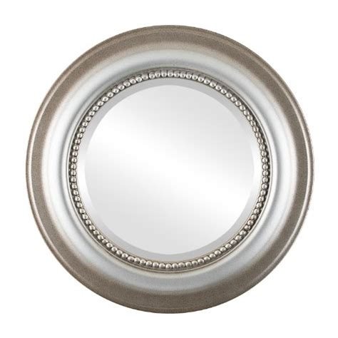 round silver bevelled mirror gt gt gt sale ovalandroundmirrors beveled mirror in a heritage style silver shade frame with
