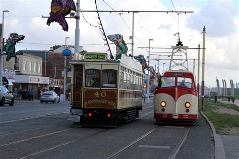 blackpool swinging we swing around and see 40 continuing on its way to depot