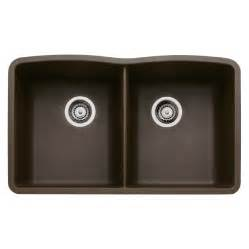 Blanco Undermount Kitchen Sink Shop Blanco 19 25 In X 32 In Cafe Brown Basin Granite Undermount Kitchen Sink At