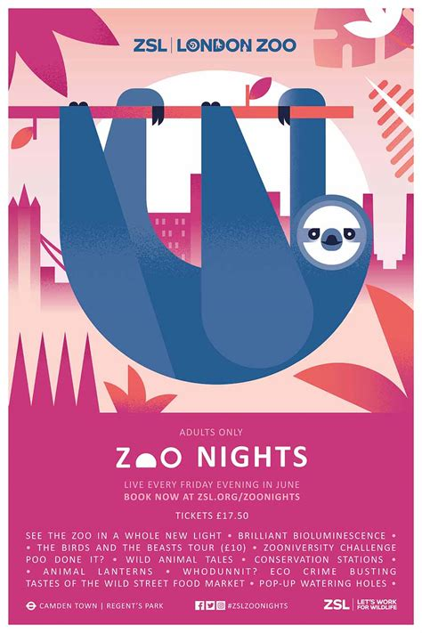 poster design jobs london zoo nights caign by edit and claire rigby