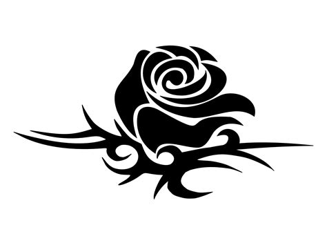tribal black rose tattoo tribal png