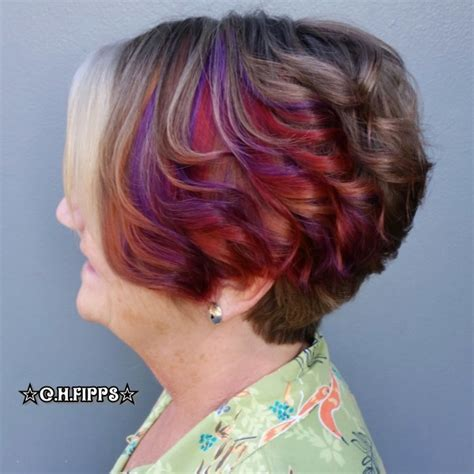unlayered hair pinwheel hair color 2015