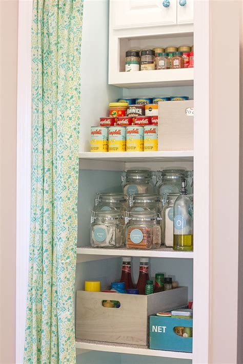 Tiered Shelves For Pantry by Pantry Details No Sew Curtain Tiered Shelf Step Stool