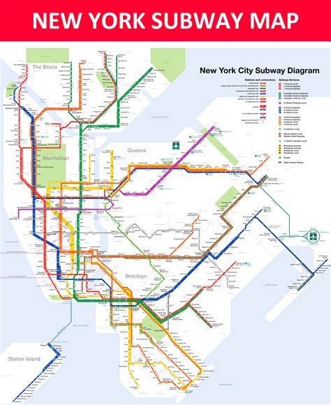 subway map in new york new york subway map lines stations and interchanges