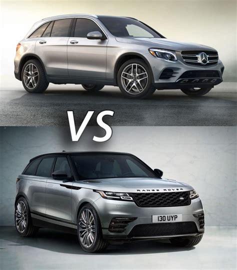 land rover velar vs discovery 2018 mercedes benz glc vs 2018 range rover velar