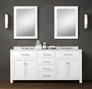 White Bathroom Vanity Restoration Hardware Hutton Vanity Sink