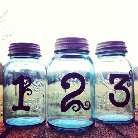 table number centerpieces wedding table number centerpieces jar centerpieces
