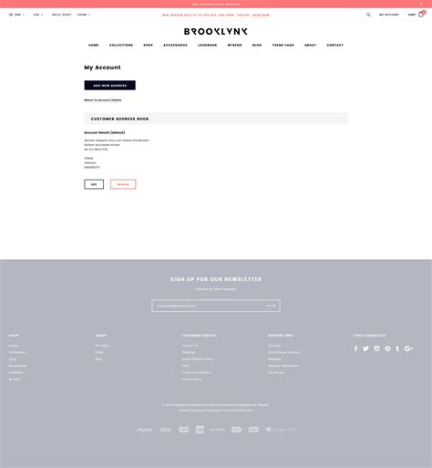 Brooklynk Responsive Fashion Shopify Template Sections Ready Halothemes Com Shopify Contact Us Page Template