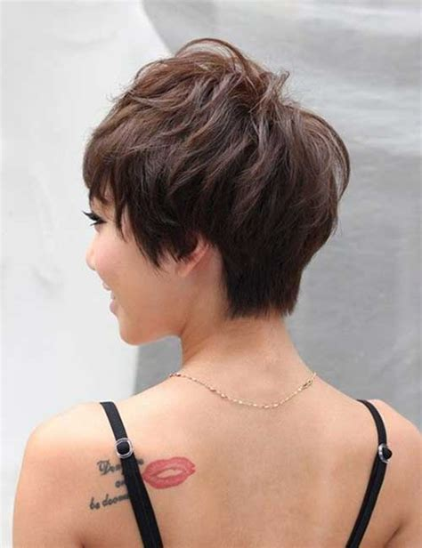 short pixie hair style with wedge in back wedge hairstyles for short hair short hairstyles 2017