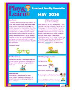 preschool newsletter templates sle preschool newsletter 8 free for word pdf