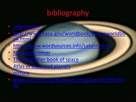 information on saturn for planet saturn