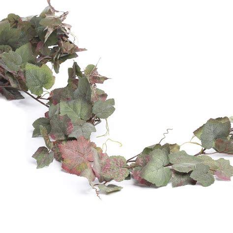 flocked artificial grape leaf garland garlands floral