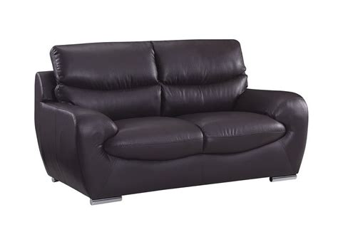 modern leather loveseat chocolate bonded leather contemporary loveseat prime