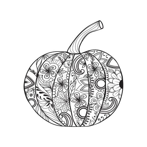 zentangle turkey coloring page zentangle style pumpkin for thanksgiving day halloween