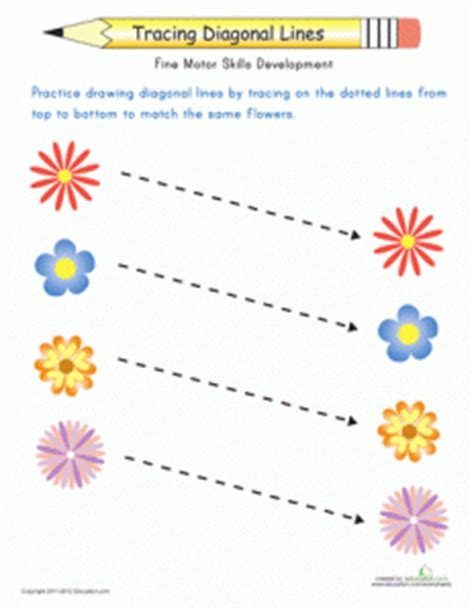 hopping pattern worksheet flower trace worksheet crafts and worksheets for