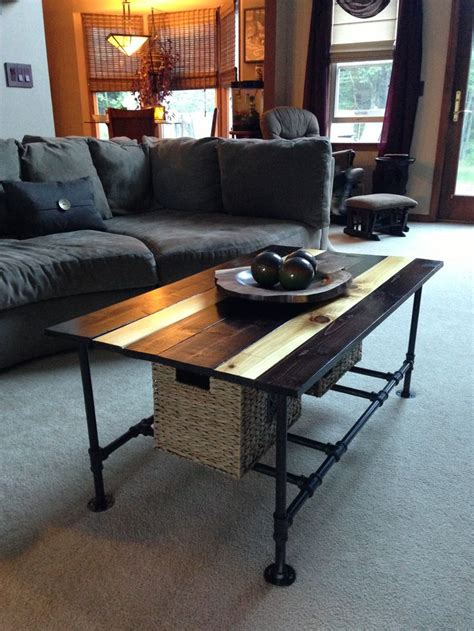 diy plumbing pipe coffee table for the home