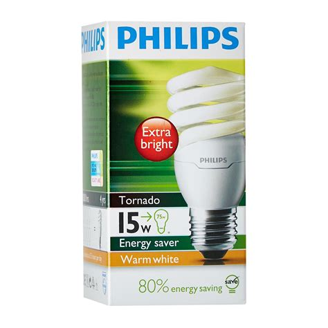 Lu Philips Philips Tornado Energy Saver 15w 4 philips tornado 15w ww e27 220 240v light bulbs 1pcs