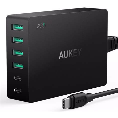 Aukey Charger Usb 4 Port 1 Port Type C 54w Qc3 0 Aipo Limited aukey charger usb 4 port 2 port type c 60w qc3 0 aipower pa y6 black jakartanotebook