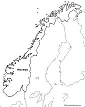 outline map norway enchantedlearning com