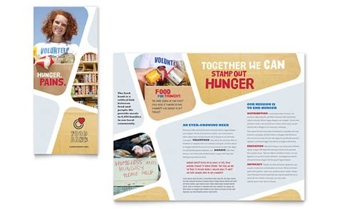 free e brochure templates food bank volunteer brochure template design