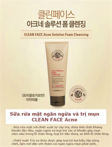 Harga The Shop Acne Solution Foam Cleansing sữa rửa mặt acne solution foam cleansing lotteshop vn