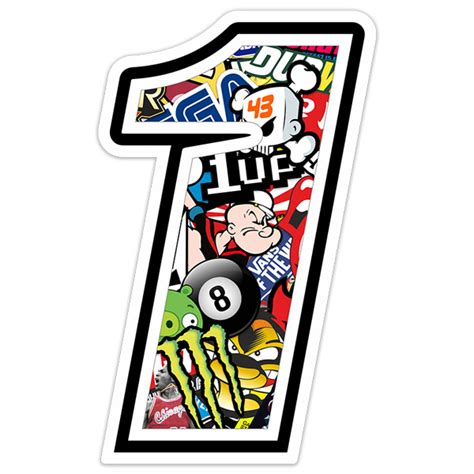 Number 1 Stickers
