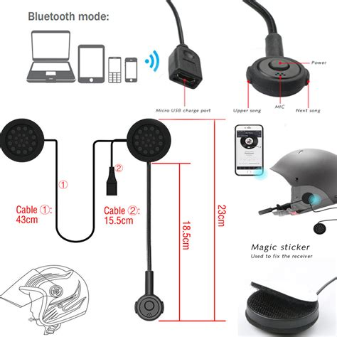 Bluetooth Motorrad by Bluetooth Helm Motorrad Headset Kopfh 246 Rer Motorr 228 Der
