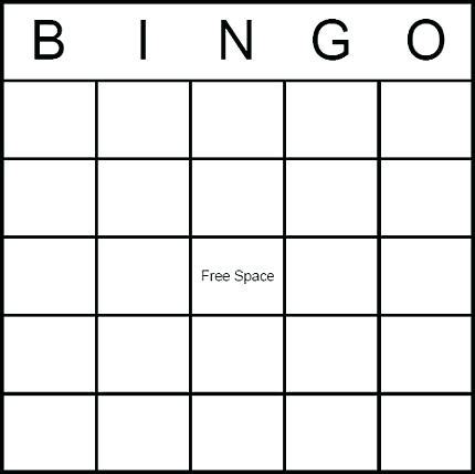 Large Print Bingo Card Template by Empty Bingo Card Template Baby Shower Blank With Pink