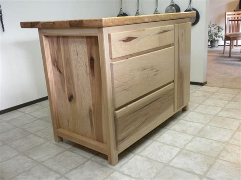 hickory kitchen island hickory kitchen island by don lumberjocks