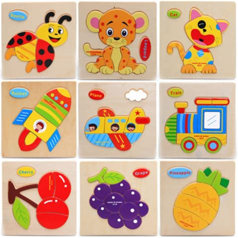 best puzzle toys montessori materials wooden jigsaw puzzles toys animal fruit transportation