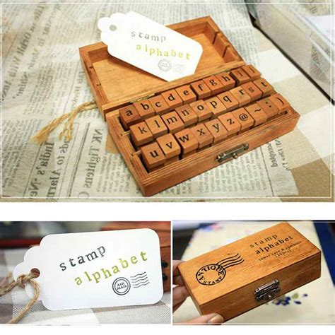 rubber alphabet sts uk 30pcs retro vintage craft wooden box alphabet letter