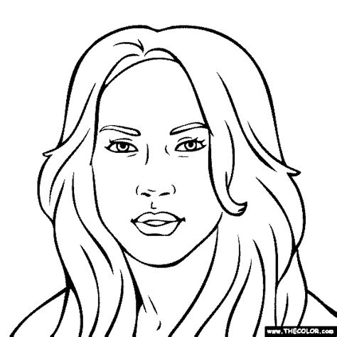 famous actress coloring pages page 1