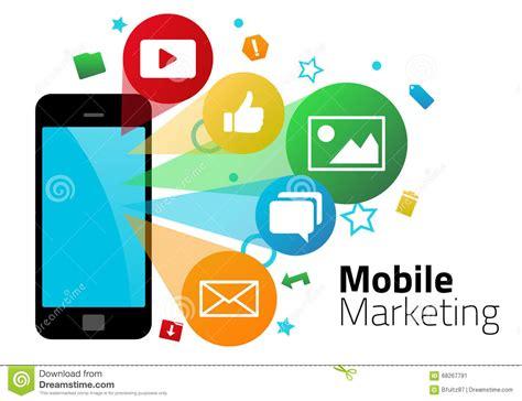 free mobile market mobile marketing graphics stock illustration illustration