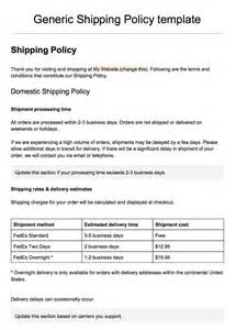 Policy Form Template by Doc 422464 Shipping Template Shipping Packing List
