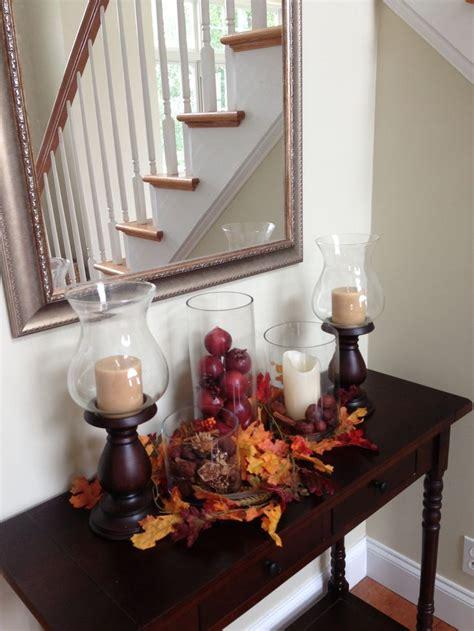 autumn foyer decorating ideas pretty console table with fall decor decoration ideas